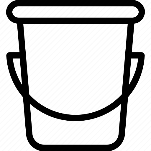 bucket, can, pail, water bucket, water container icon
