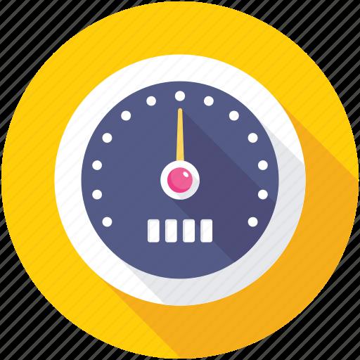 Pressure meter, pressure gauge, speedometer, odometer icon