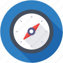 compass, directional tool, exploration, global positioning system, navigation tool icon