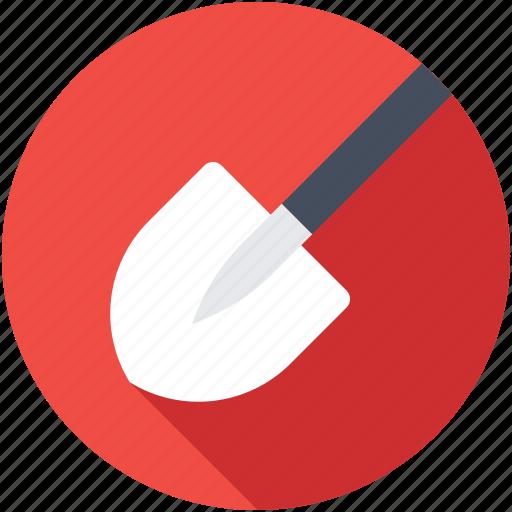 digging trowel, gardening tools, hand tool, shovel, trowel icon