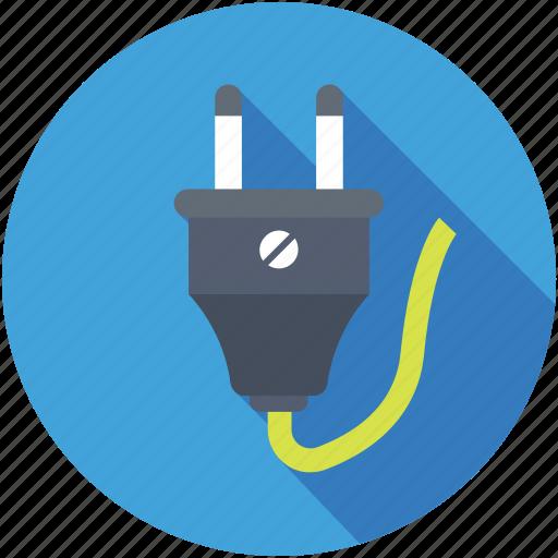 electricity, plug, power cord, power plug, power supply icon