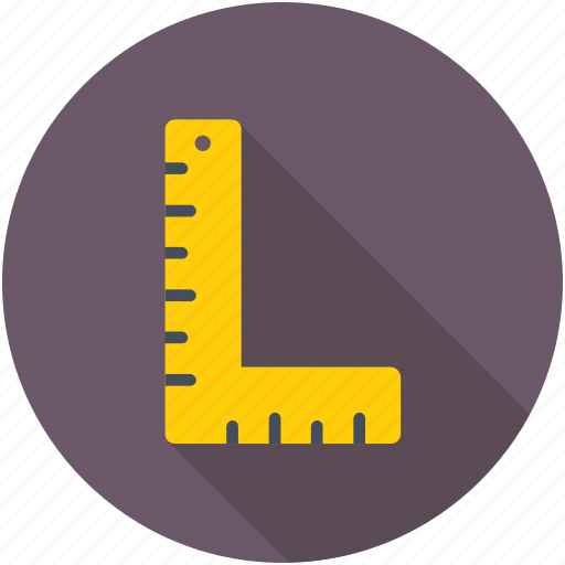 architect ruler, measuring tool, scale, square ruler, try square icon