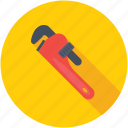adjustable wrench, hand tools, pipe wrench, plumber tools, stillson wrench icon