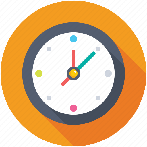 clock, timekeeper, timer, wall clock, watch icon