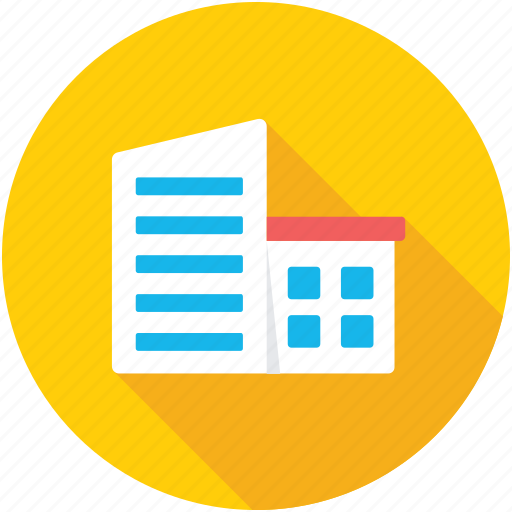architecture, building, commercial building, head office, office building icon