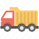 construction truck, dump truck, transport, truck, vehicle