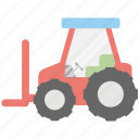 agricultural tractor, agricultural transport, farm tractor, farming simulator, tractor icon