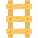 building supplies, carpentry, ladder, step ladder, wood stairs icon