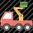 cherry picker, hydraulic lift, mobile crane, scissor lift, truck crane icon