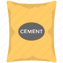 cement, cement bag, cement industry, cement sack, construction icon