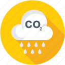 acidification, carbon dioxide, co2, emission, pollution icon