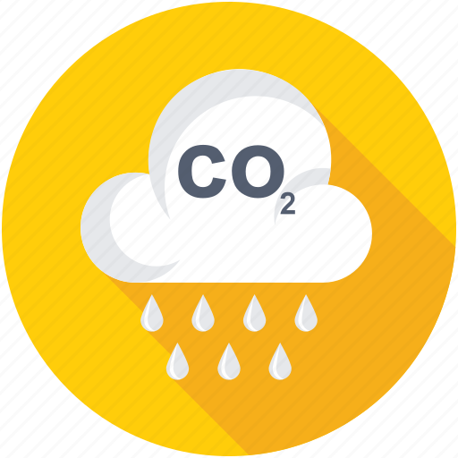 Carbon dioxide, co2, acidification, emission, pollution icon