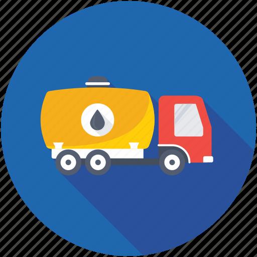 fuel truck, oil tanker, tanker, tanker truck, water tanker icon