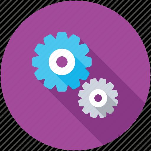 Cogs, cogwheel, setting, gear, mechanic icon