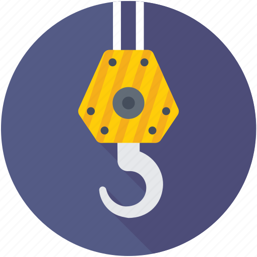container lifter, crane hook, crane lifter, crane pulley, weight lifter icon