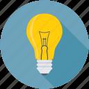 bulb, idea, incandescent, lamp, light bulb