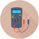 ampere meter, multimeter, voltage meter, voltmeter, vom icon