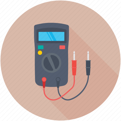 ampere meter, multimeter, voltage meter, voltmeter, vom icon