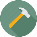 carpenter, claw hammer, hammer, tools, woodwork icon