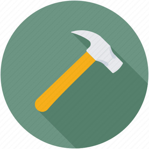 Woodwork, hammer, tools, carpenter, claw hammer icon