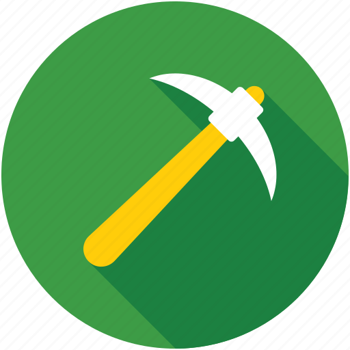 construction tools, hand tool, mattock, pick tool, pickaxe icon