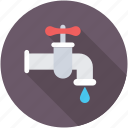 tap, water flow, water supply, water system, water tap icon