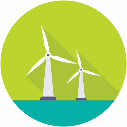 Windmill, wind generator, wind energy, whirligig, wind turbine icon