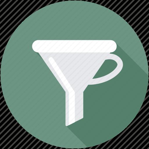 filter, filter funnel, funnel, kitchen funnel, laboratory funnel icon