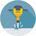 air hammer, drill, jackhammer, pneumatic hammer, sledge hammer icon