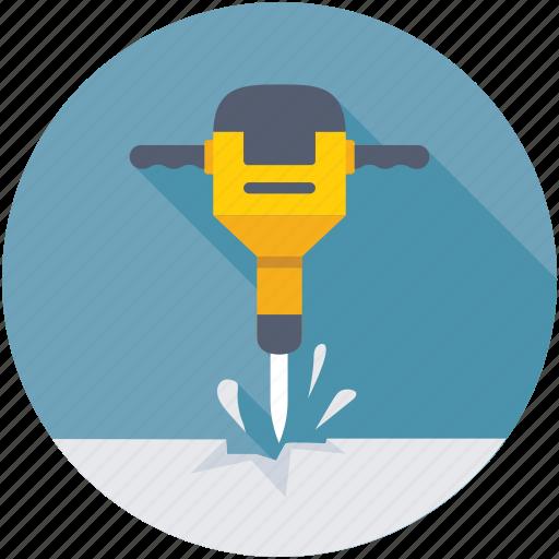Jackhammer, air hammer, pneumatic hammer, drill, sledge hammer icon