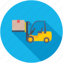 bendi truck, fork truck, forklift truck, lift truck, warehouse forklift icon