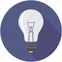 bulb, idea, incandescent, lamp, light bulb icon