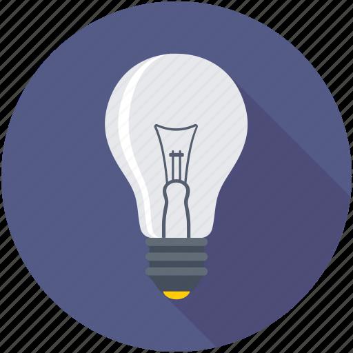 bulb, idea, incandescent, lamp, light bulb icon