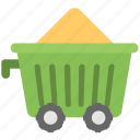 cement cart, construction cart, mine chariot, mine trolley, minecart icon