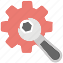 bolt, cog, spanner, work tools, wrench icon