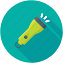 flashlight, light, pocket torch, searchlight, torch icon