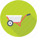 hand truck, construction cart, barrow, handbarrow, wheelbarrow