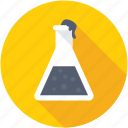 chemical, flask, research, conical flask, laboratory