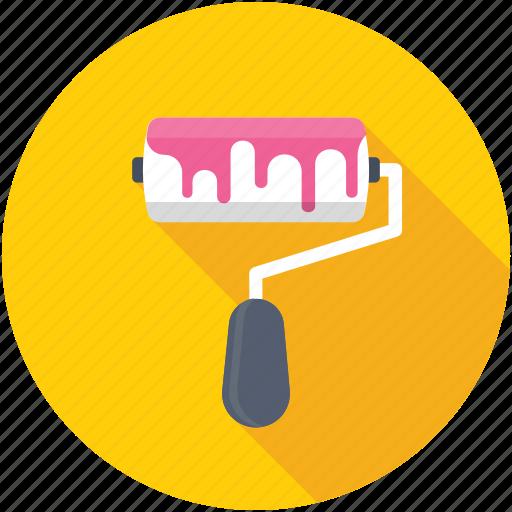 paint brush, paint roller, painting, roller, roller brush icon