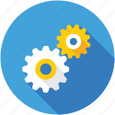 cogs, cogwheel, gear, mechanic, setting icon