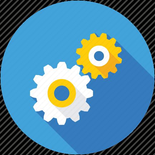 cogs, cogwheel, gear, mechanic, setting icon