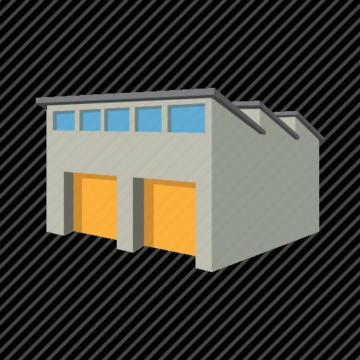 architecture, building, cartoon, door, garage, metal, storage icon