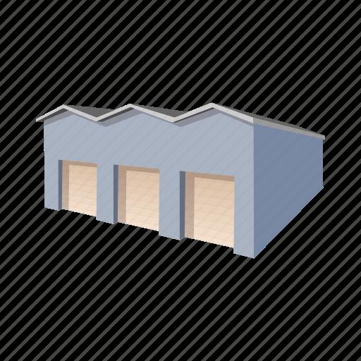 Architecture Building Cartoon Door Garage Metal New Icon