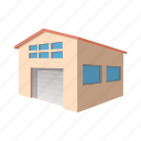 architecture, building, cartoon, door, garage, metal, new icon