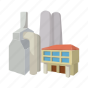 cartoon, chimney, energy, industry, nuclear, power, station icon