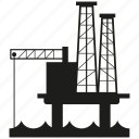 building, energy, gas, industry, oil rig, petroleum, pump icon