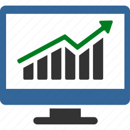 business chart, diagram, graph, growth, monitoring, report, stock market icon