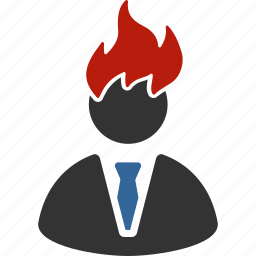 boss, deadline, fire, hire, manager, problem, reminder icon