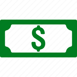 american dollar, banknote, cash, fiat money, payment, united states bank, usa currency icon