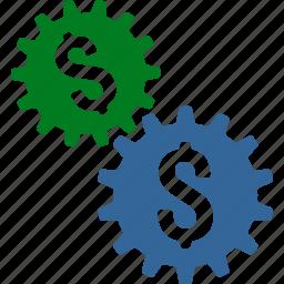 banking, business model, commerce, finance, financial, mechanics, transaction icon